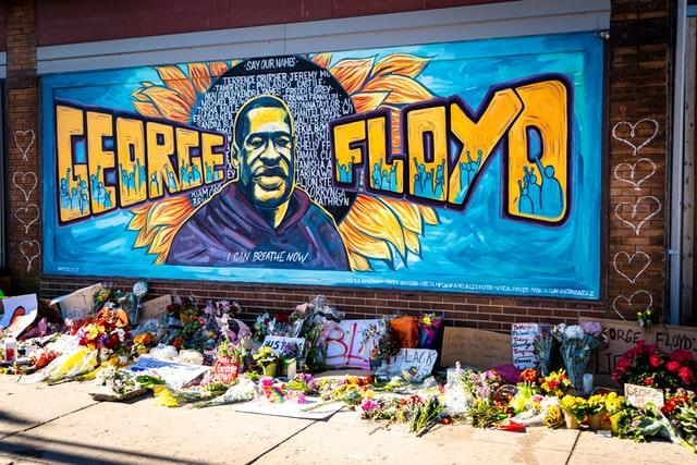 Mural of George Floyd in Minneapolis