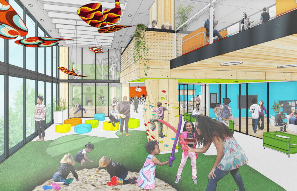 Rendering of the new Center for Equity in Atlantic